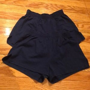 Soffe navy blue shorts, XS